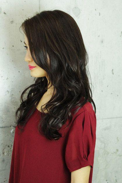 魅惑的 黒髪のマーメイドウェーブ Afloat Ruvuaのヘアスタイル