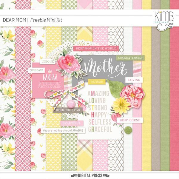 Free Dear Mom Mini Kit from KimB Designs