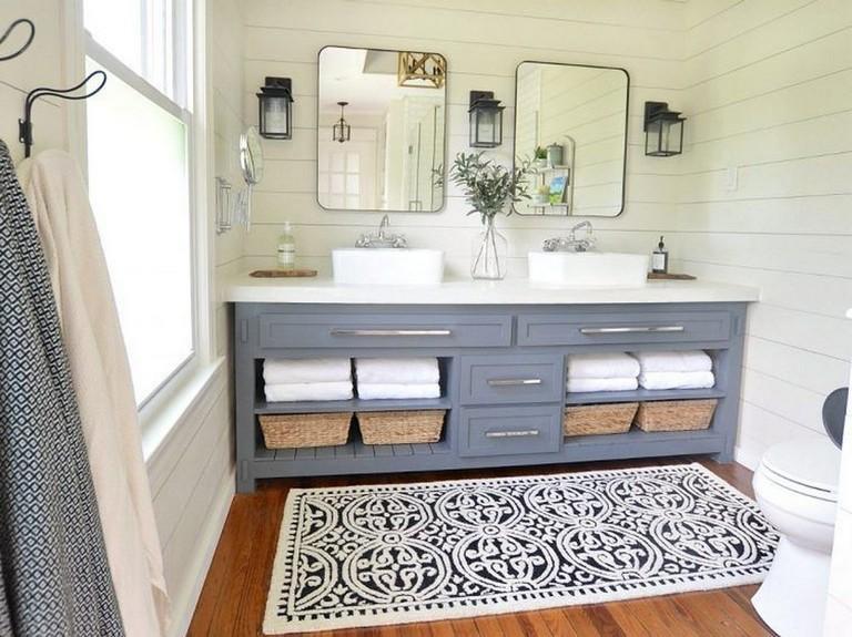 48 top rustic farmhouse bathroom flooring ideas bathroom