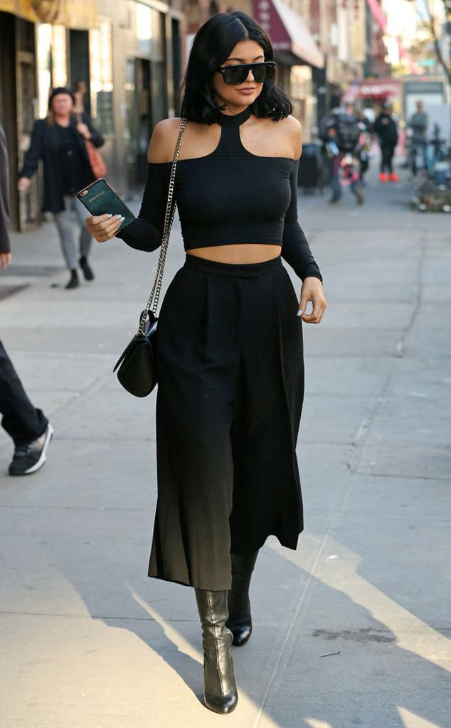4e83cf7e46c6b4 Culottes Cool from Kylie Jenner s Street Style in 2019