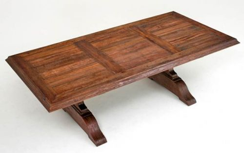 Woodlandcreekfurniture.com Traverse City, Michigan Reclaimed Trestle Tables