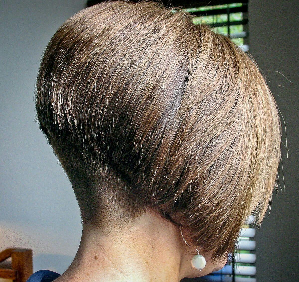 shaved nape best shaped bob   bobs   inverted bob haircuts