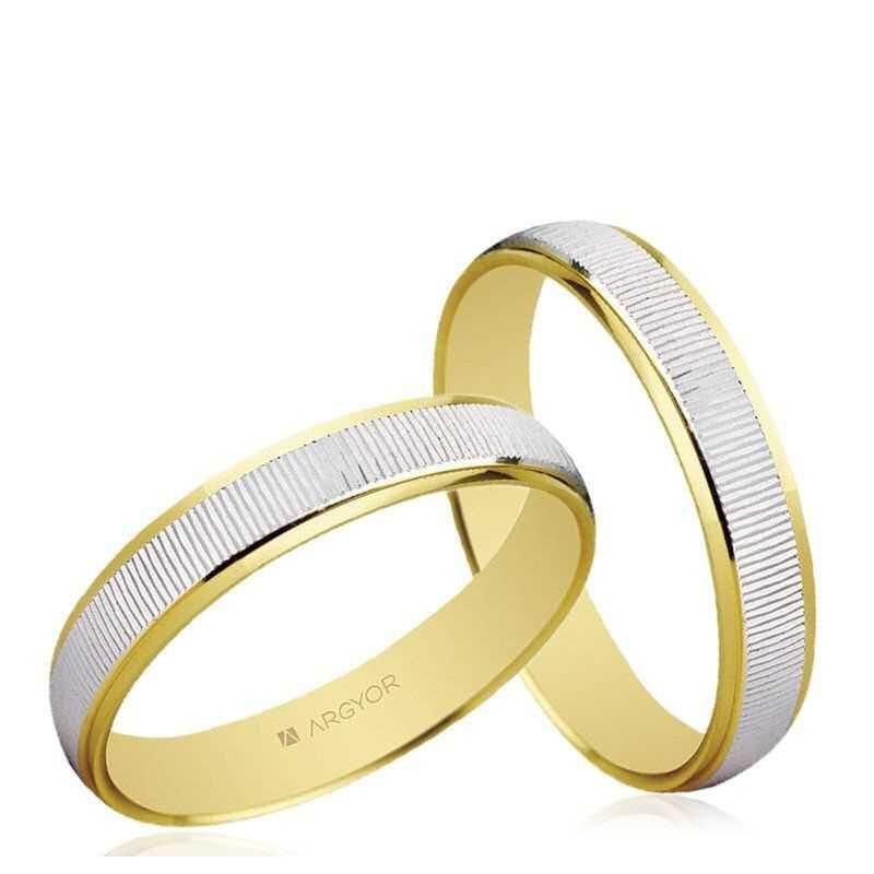 Alianzas de boda Oro 1ª Ley 18Kts. bicolor 3mm Argyor ref. 5230430 18K