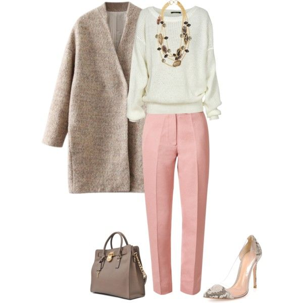A fashion look from December 2014 featuring Orla Kiely pants, Gianvito Rossi pumps and Michael Kors tote bags. Browse and shop related looks.