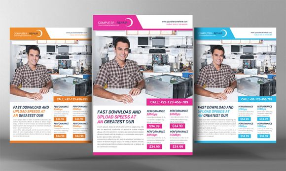 Check out Computer Repair Flyer Template by Corporate Flyers - corporate flyer template