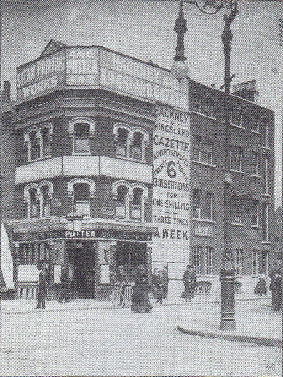 Hackney Gazette offices at 440 Kingsland rd at the junc of