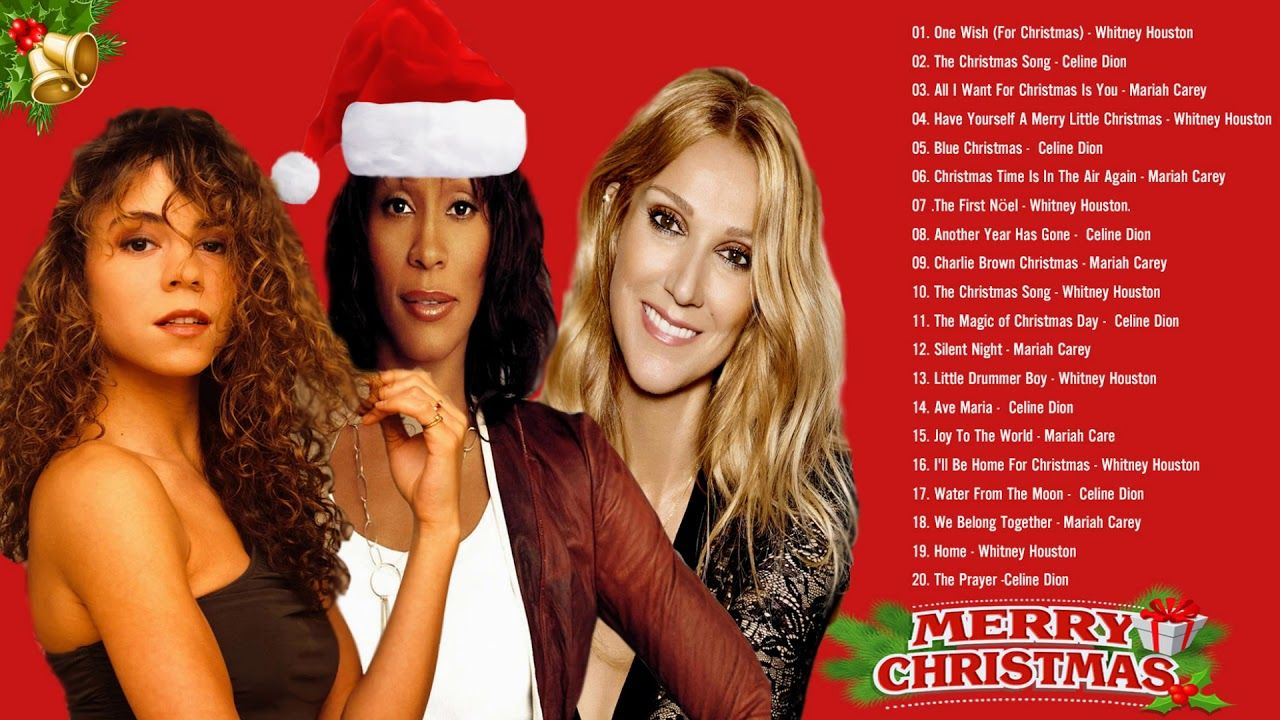 Whitney Houston, Celine Dion, Mariah Carey Merry Christmas