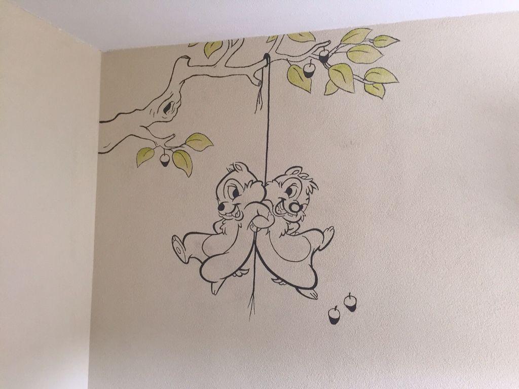 Muurschildering Van Knabbel En Babbel Op Een Spachtelputz Muur Gemaakt Door Stijlvollemuur Nl Muurschildering Muur Tekening Kinderkamers Schilderen