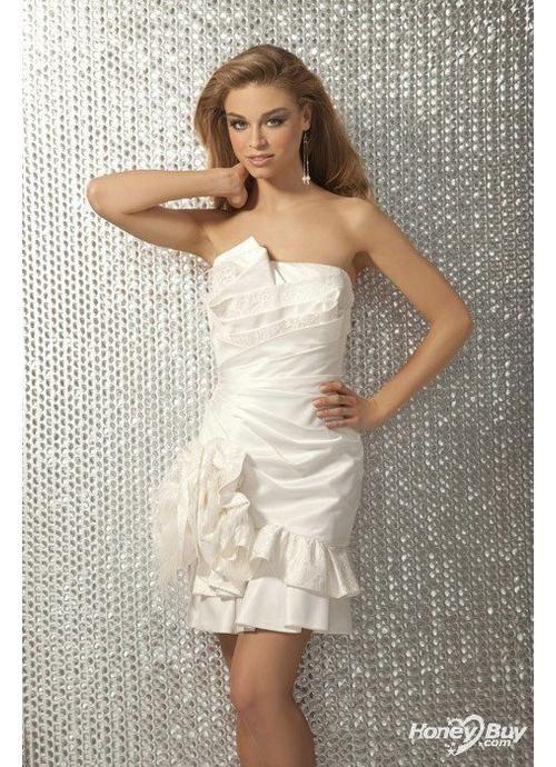 4a0fb8fa91 Strapless Short for Women Short White Formal Party Dress Online Store porm- dresses