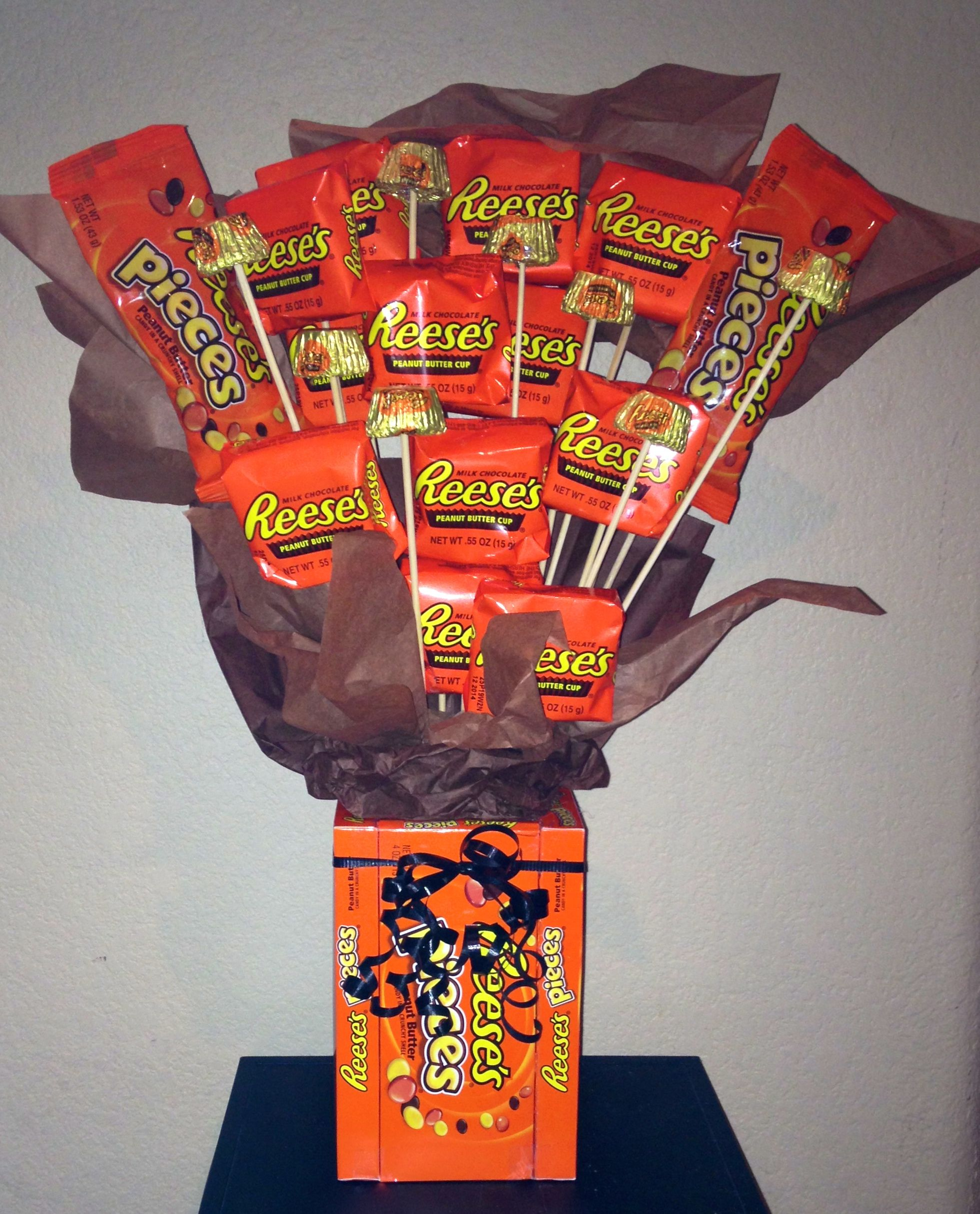 Reese S Peanut Butter Cup Fans Fun Candy Bouquet For Any Occasion Or Just Because Gifts