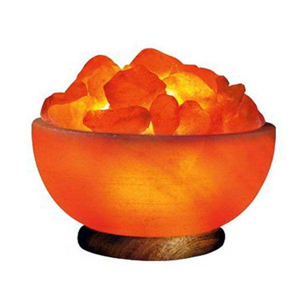 Himalayan Salt Lamp Prosperity Bowl With Rock Crystals