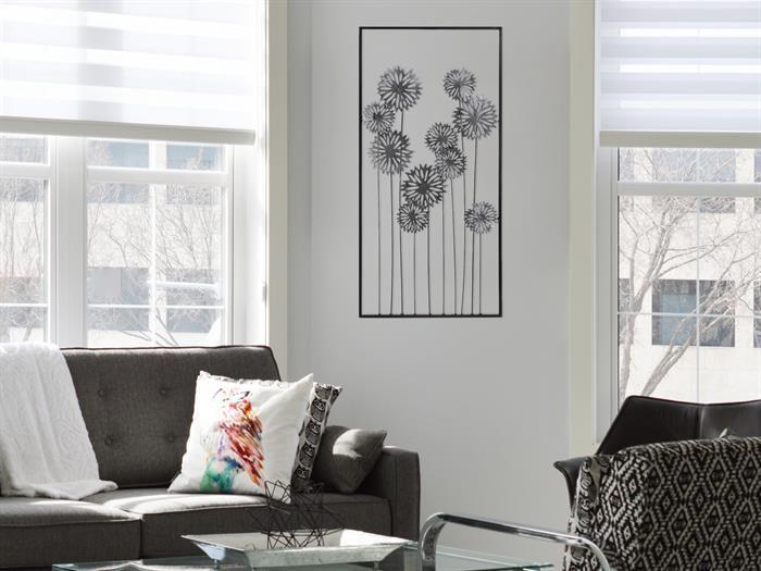 Casablanca - FLOWERS - DecoART Metall-Design - Wanddeko Wohnzimmer - Moderne Tische Fur Wohnzimmer