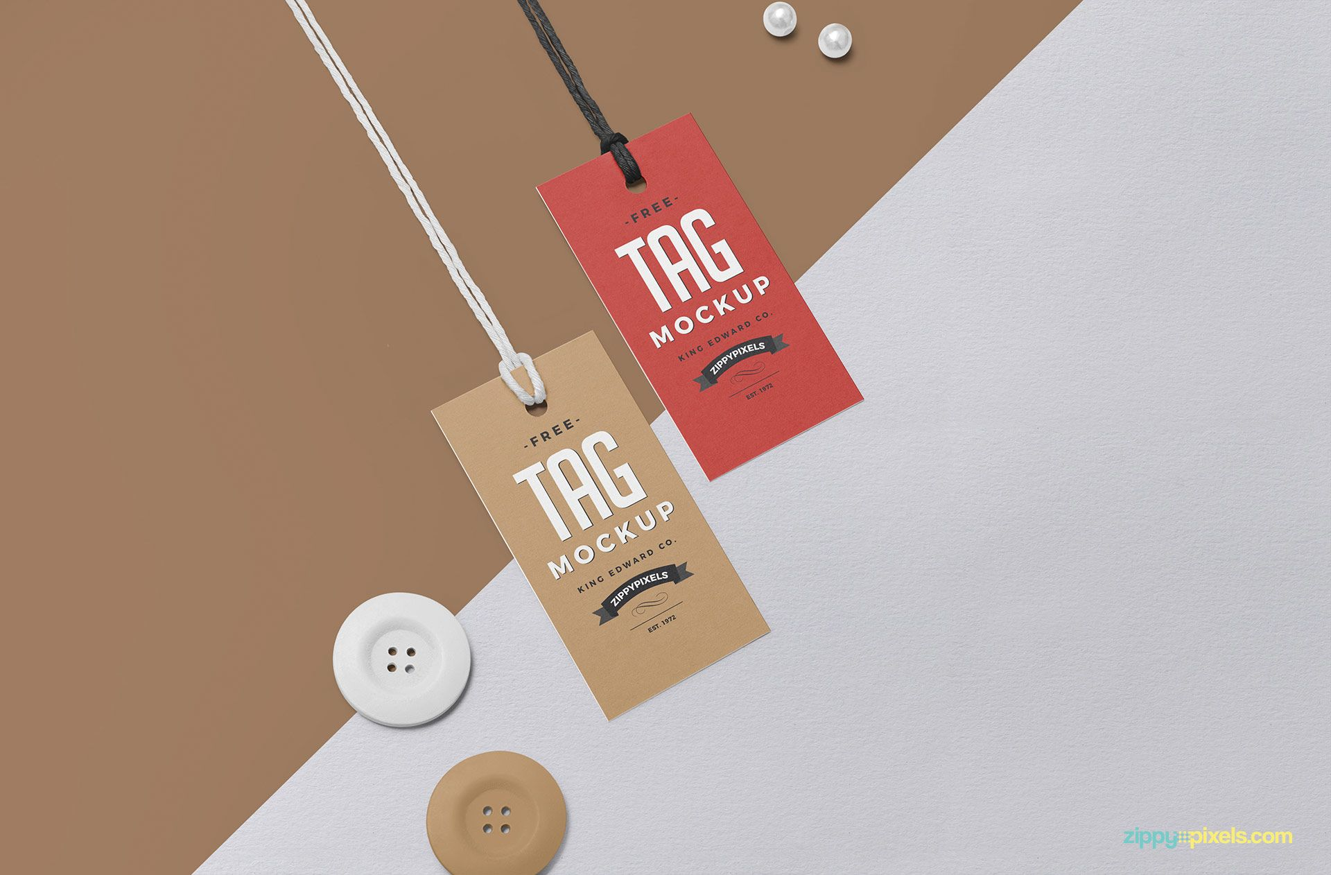 Free Swing Tag Mockup Swing Tags Tag Design Fabric Labels