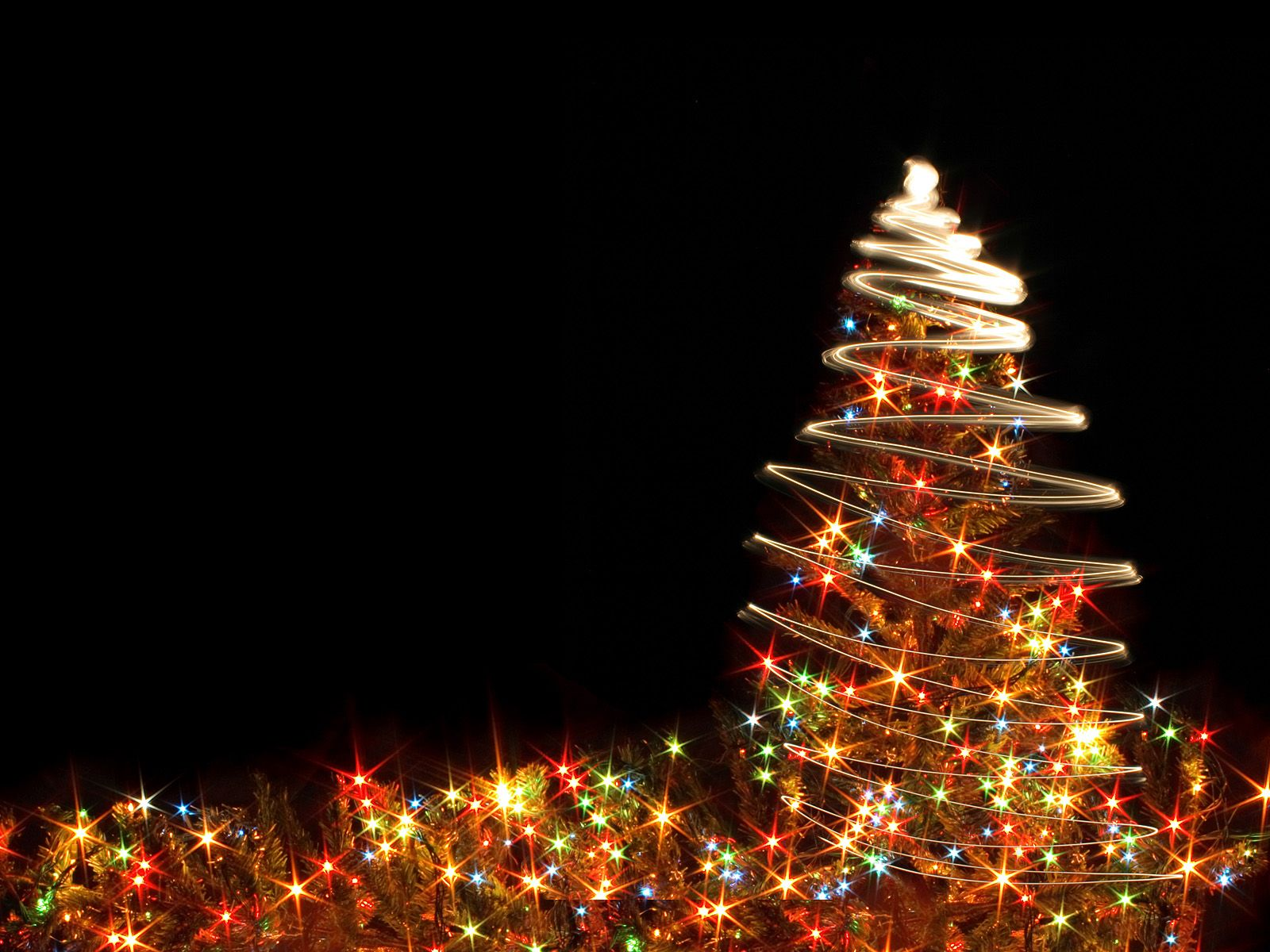 christmas tree lights backgrounds powerpoint