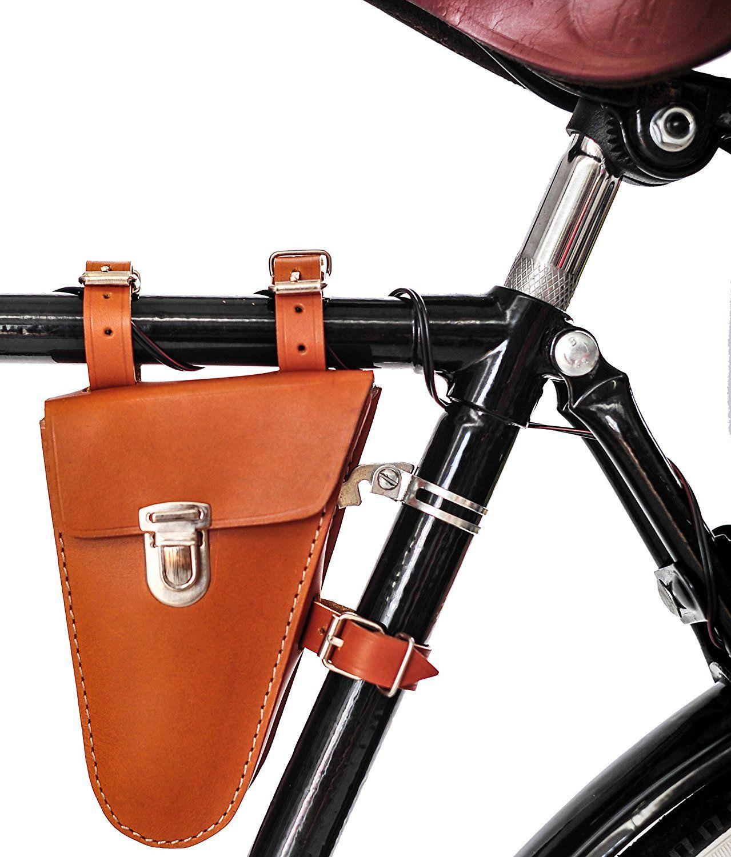 Fahrrad Rahmentasche Werkzeugtasche 100 Echtes Rindsleder