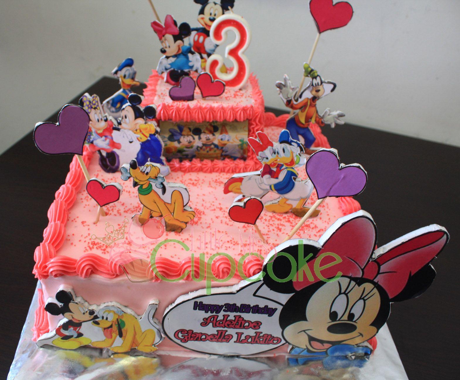 Minnie mouse buttercream cake for adelias bday minnie
