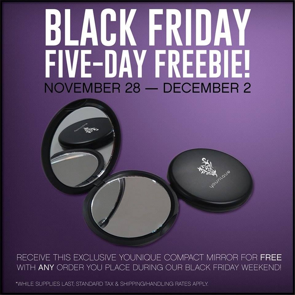 Hurry while supplies last! free mirror Younique, Black