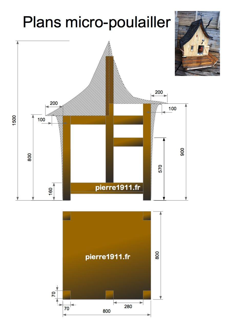 micro poulailler plan tutorial de construction gros. Black Bedroom Furniture Sets. Home Design Ideas