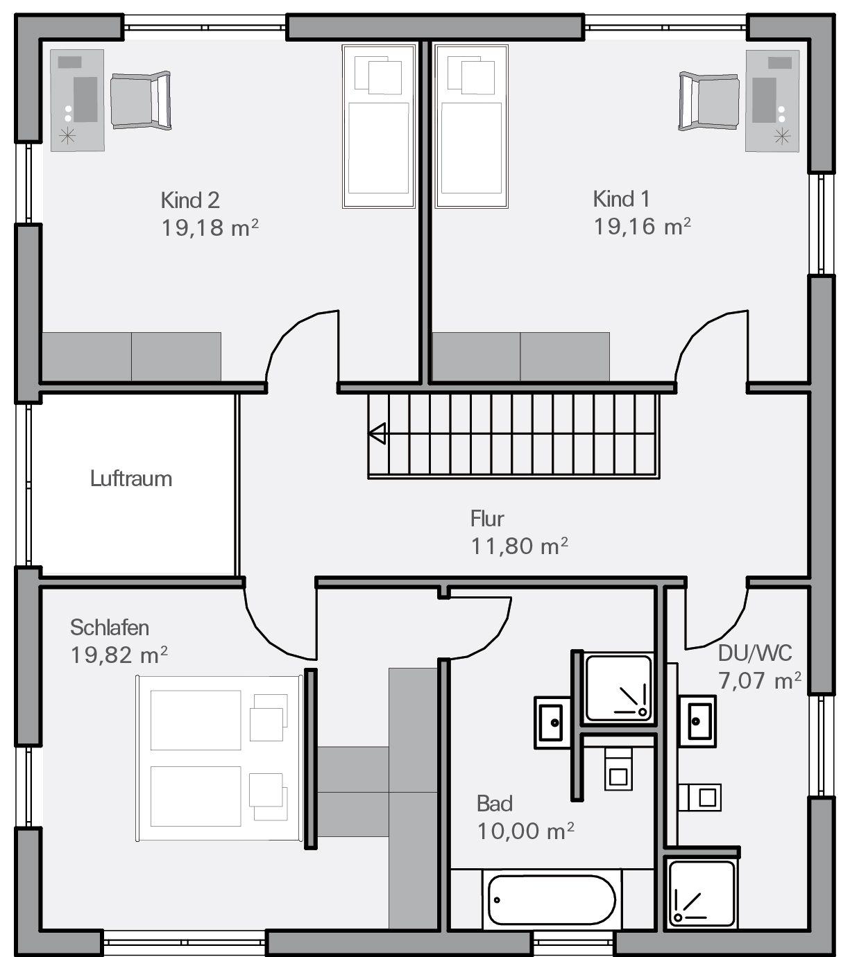 Einfamilienhaus mit Satteldach Haus Evolution 154 V7 von