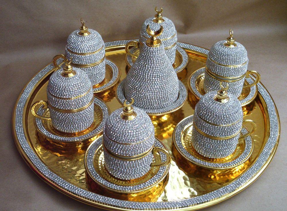 Handmade Copper Turkish Coffee Espresso Serving Set