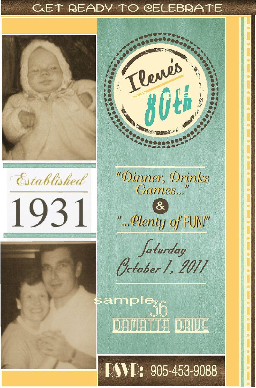 Items Similar To Vintage Retro Inspired 80th Birthday Milestone