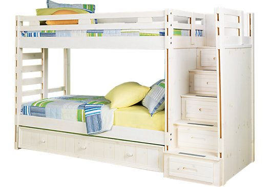 Creekside Stone Wash 3 Pc Twin Twin Step Bunk Bed Bunk Loft Beds Bunk Beds With Stairs Kids Bunk Beds Bedroom Furniture Stores