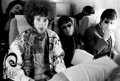 Eric Burdon & The Animals, On the plane to Los Angeles. June 1967