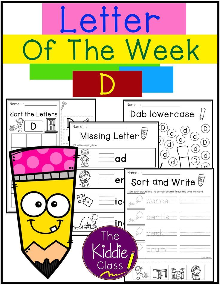 Letter of the Week D Letter of the week, Kindergarten