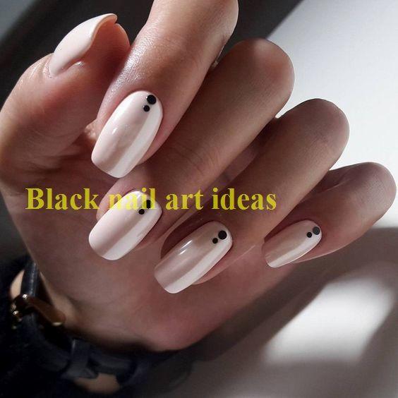 Photo of 20 SIMPLE BLACK NAIL ART DESIGN IDEAS  #naildesigns #nailart
