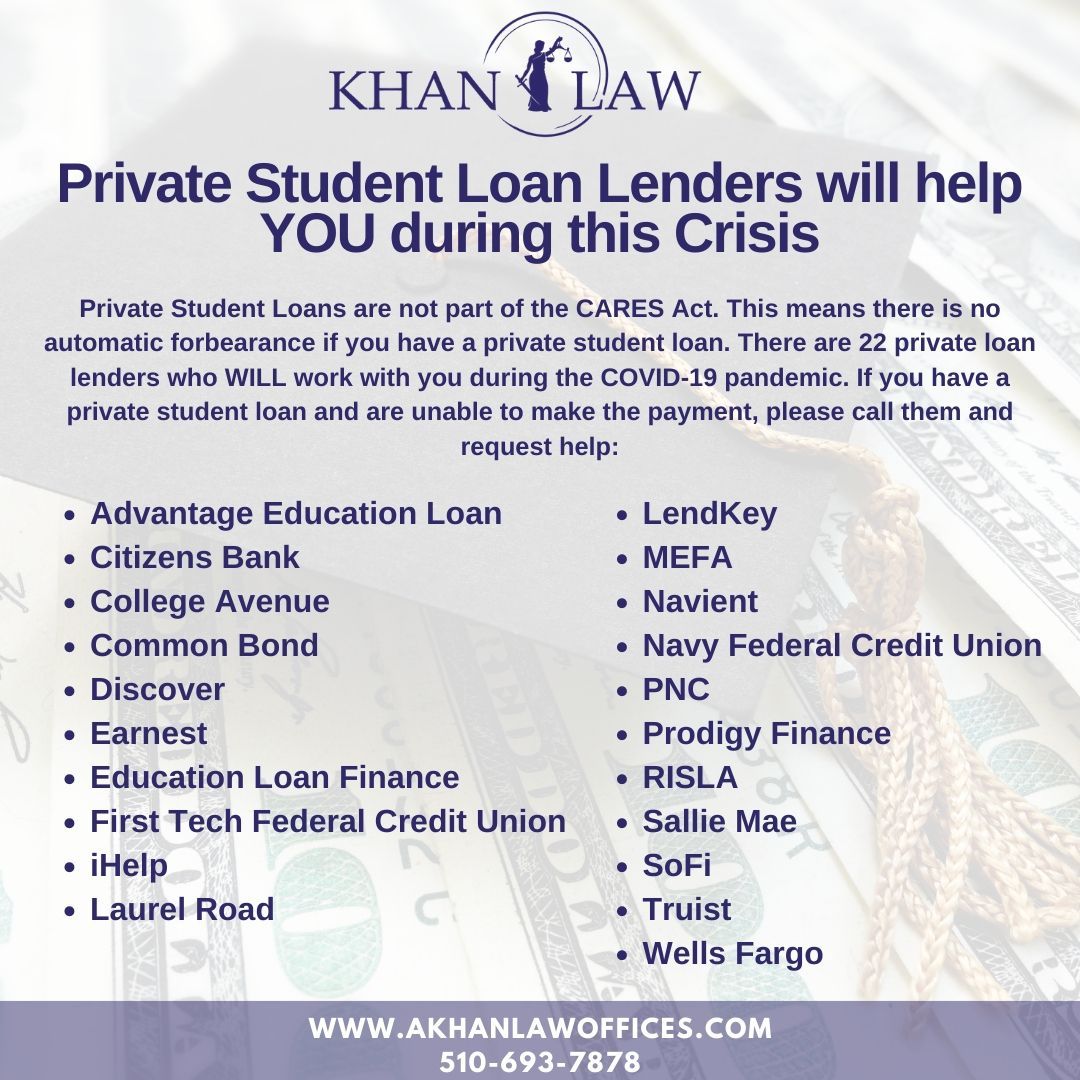 Pin By Khan Law On Bankruptcy Attorney In 2020 Private Student Loan Loan Lenders Private Loans