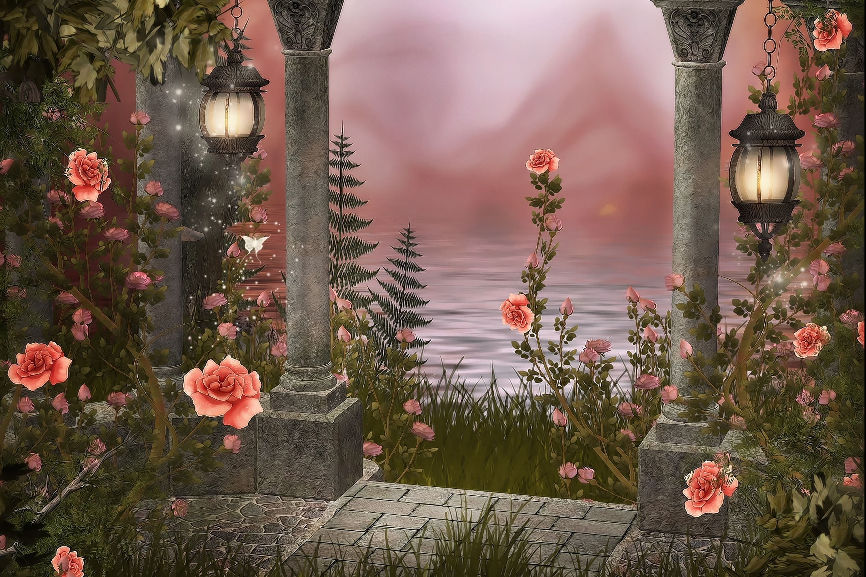 Rose Garden Is An Hd Wallpaper Posted In Flowers Category You Can