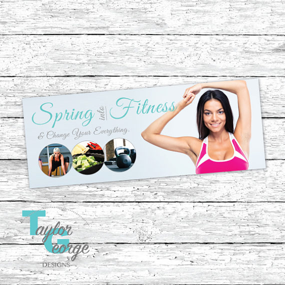 Spring Into Fitness Challenge Group Facebook Cover Photo Challenge Group Banner Clean Eating Group Banner Health Fitness Coach Banner Workout Challenge Month Workout Challenge Challenge Group