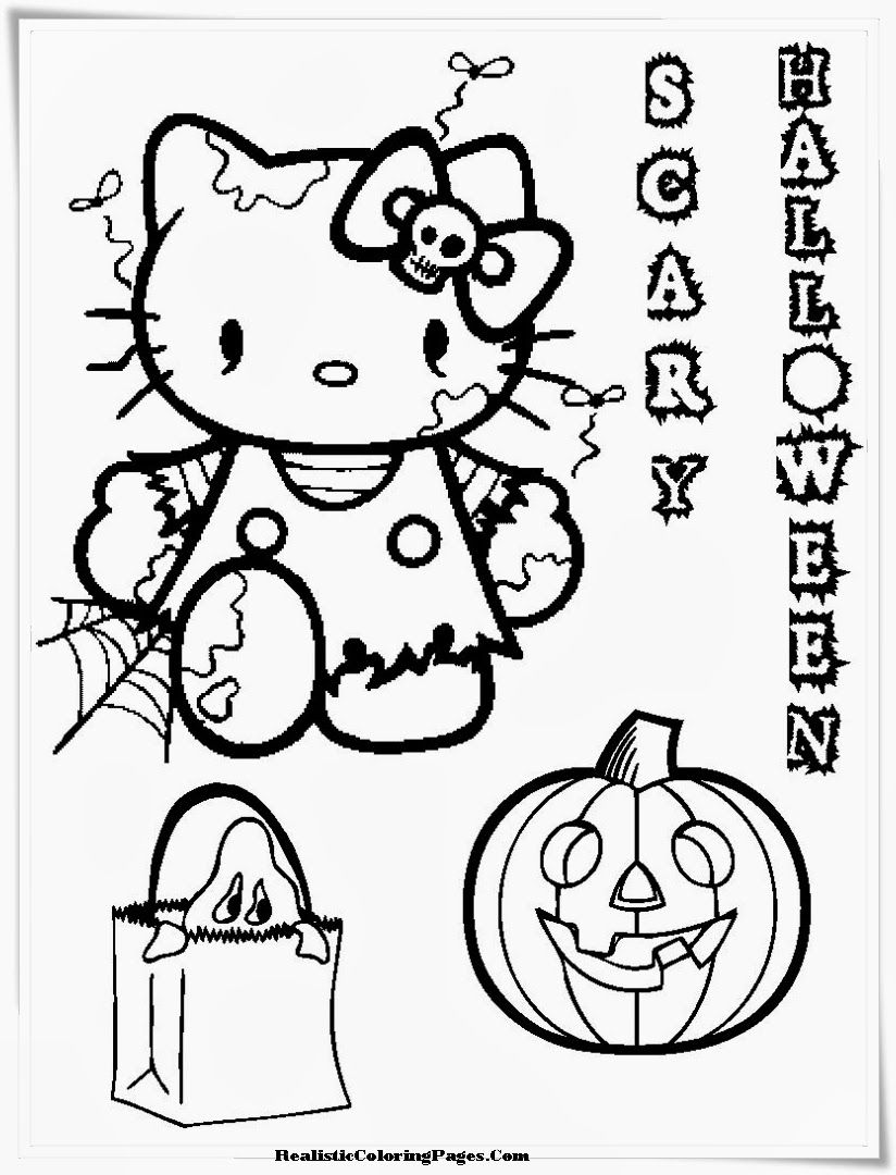 Barbie Halloween Coloring Pages Free Large Images Witch Coloring Pages Hello Kitty Halloween Halloween Coloring Book