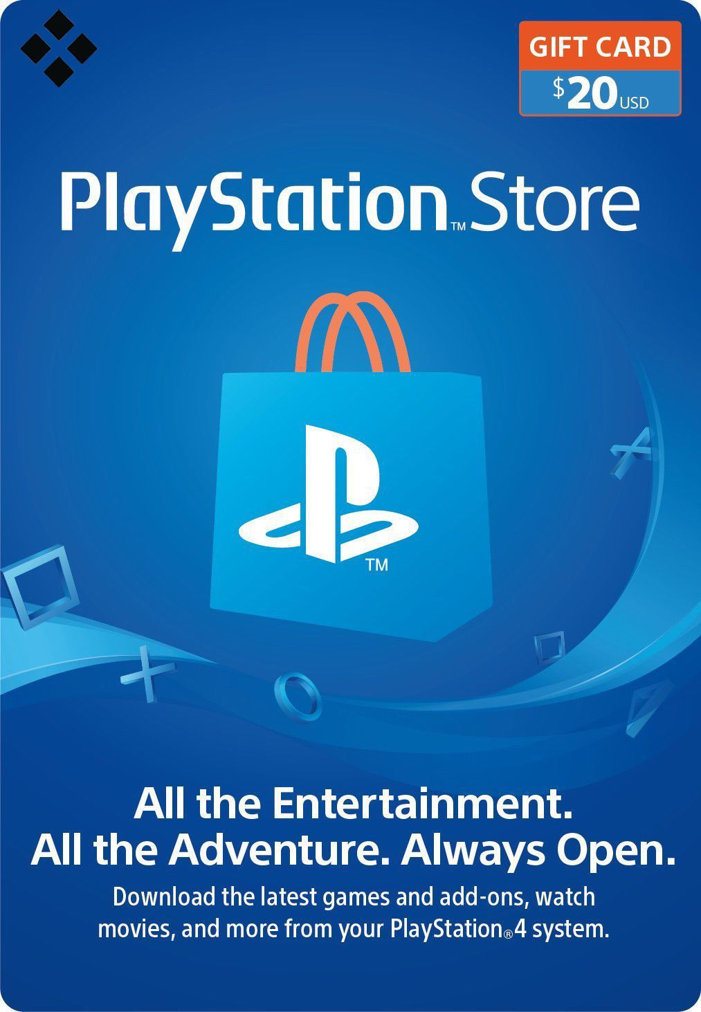 Prepaid Gaming Cards 156597 20 Usd Playstation Network Store Card