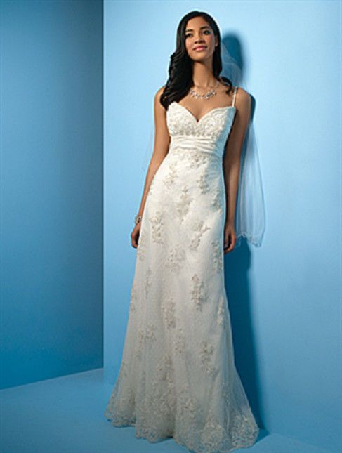 New Alfred Angelo Size 10 English Net & Lace White Wedding Gown (#89 ...