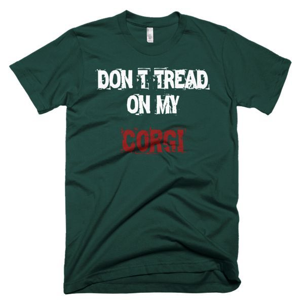 Don't Tread On My Corgi / White - Short Sleeve Men's T-Shirt