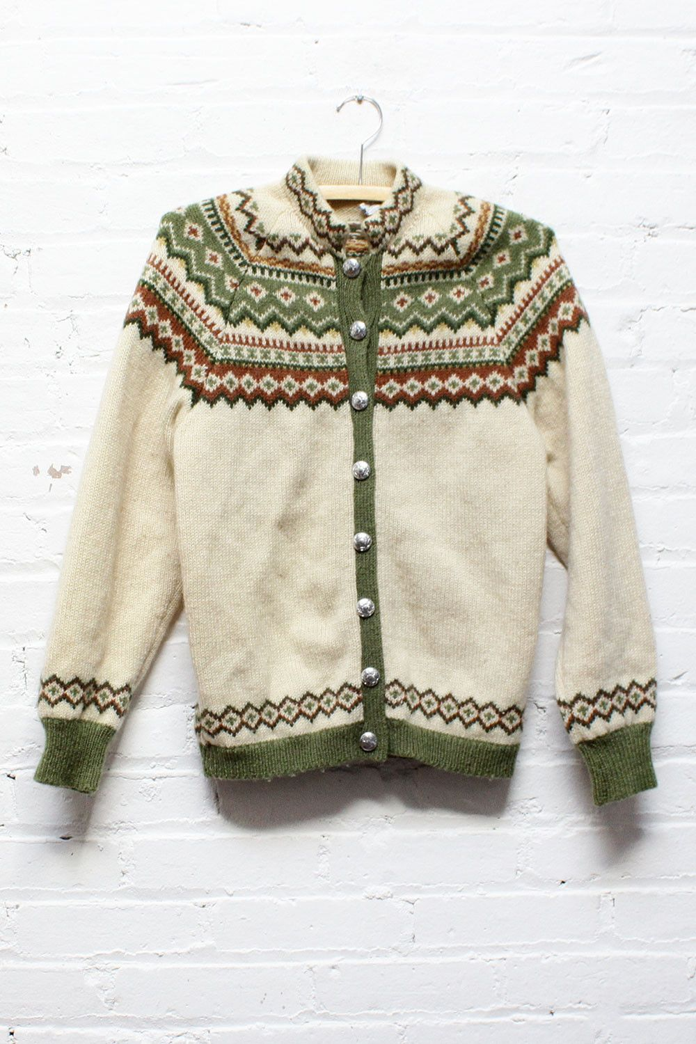 Norwegian Fair Isle Cardigan S/M | Fair isles, Winter and Patterns