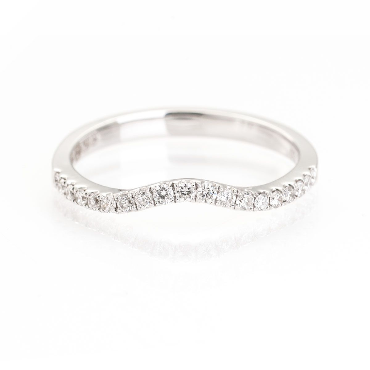 Shaped diamond wedding ring Wedding rings Pinterest Diamond
