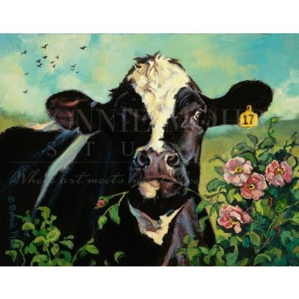 #cows #cowart #lifeonthefarm #dairyfarming #summertime #thebeautifulcow #holstein SHOP NOW: http://www.bonniemohr.com/store/face-to-face-summer.html