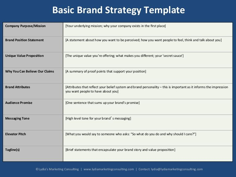 basic-brand-strategy-template I ♥ Branding! Pinterest Brand - competitive analysis format