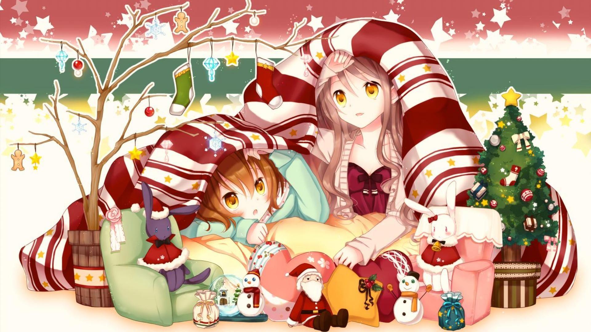 Cute Anime Merry Christmas Background Wallpapers Christmas Wallpaper Rozhdestvenskie Oboi Devushki Iz Anime Rozhdestvo Cute anime christmas wallpaper