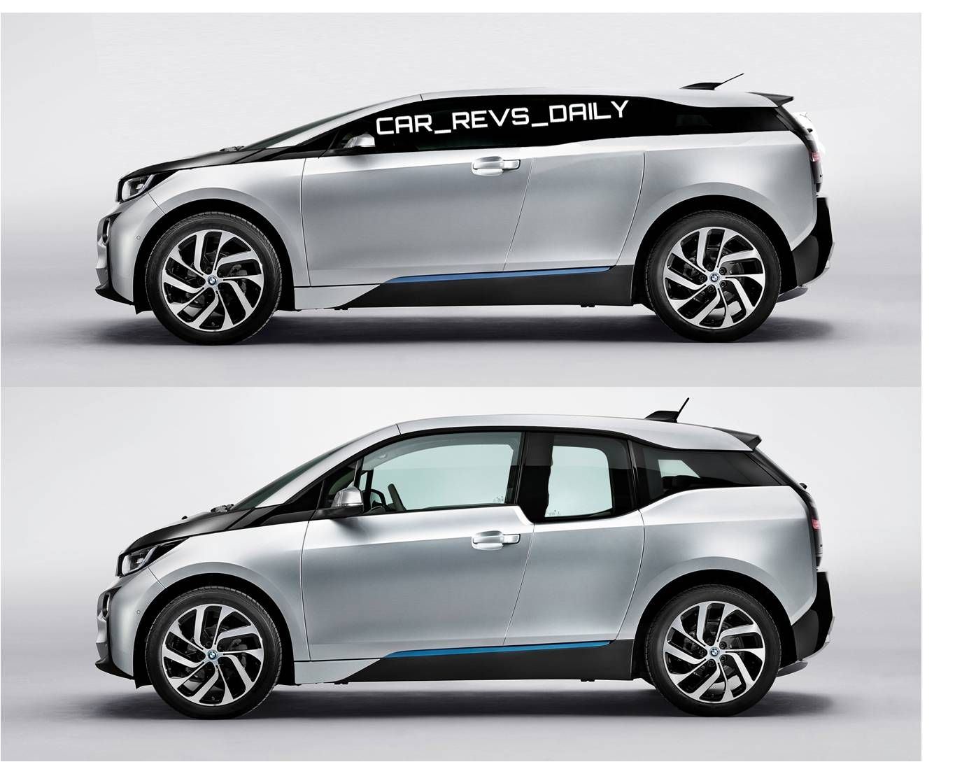 Car Revs Daily.com 2016 BMW i4 Rendering SIDE vs i3 800x638 BMW Debuts Solar Carport and Triples Carbon Fiber Output at Hydro Powered Washin...