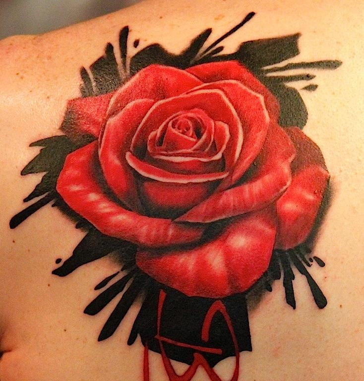 Tattoos Realistic Red Rose Rose Tattoo Sleeve Rose Hand Tattoo Rose Flower Tattoos