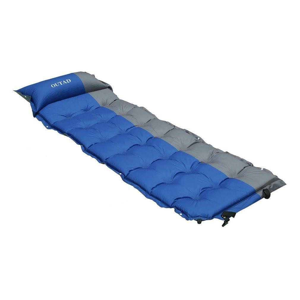 Self Inflating Sleeping Pad Outad Self Inflating Mattress Camp Sleep Mat With Pillow For Camping Backpacking Hik Sleeping Pads Air Mattress Camping Camping Mat