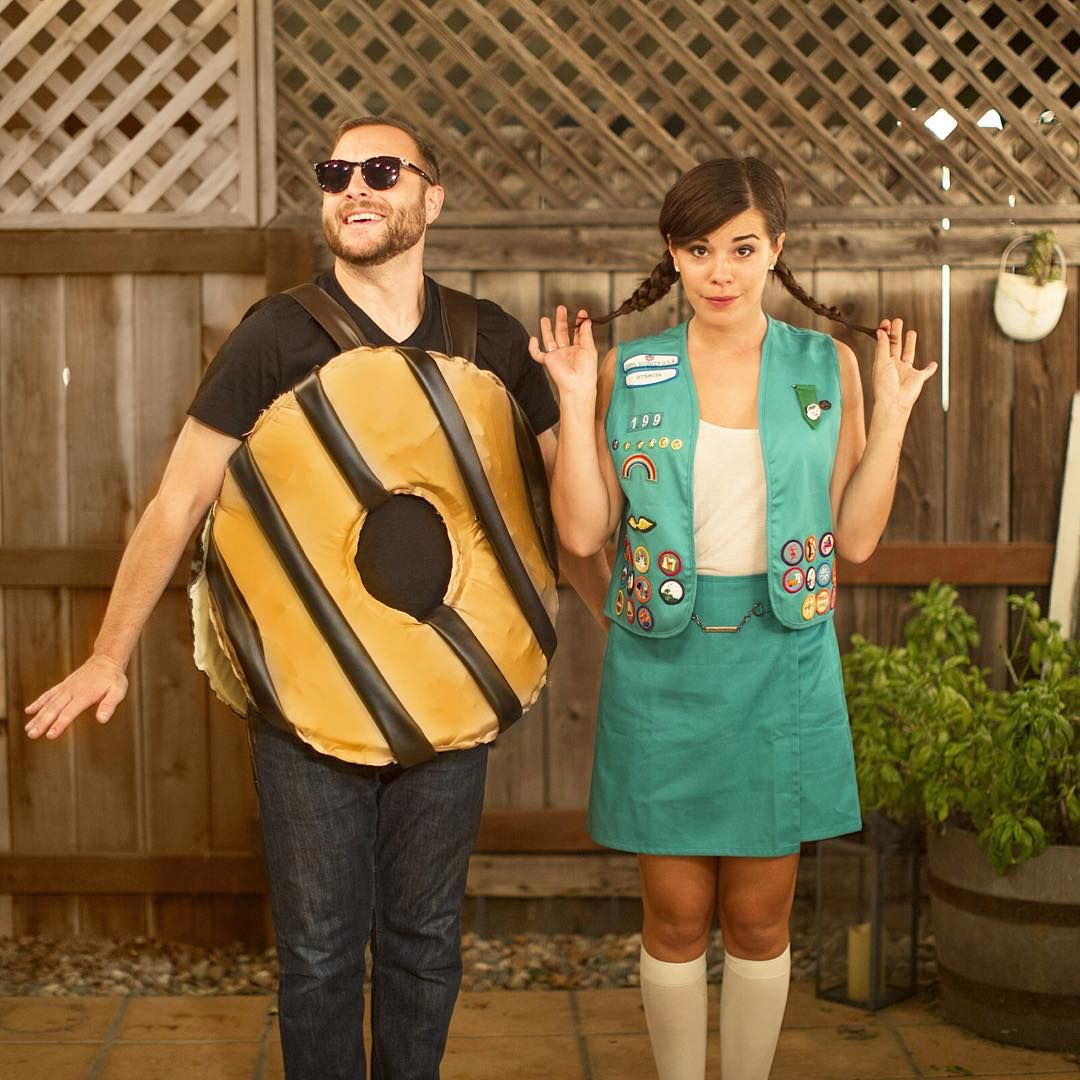girl scout & cookie 2 person halloween costumes, Two