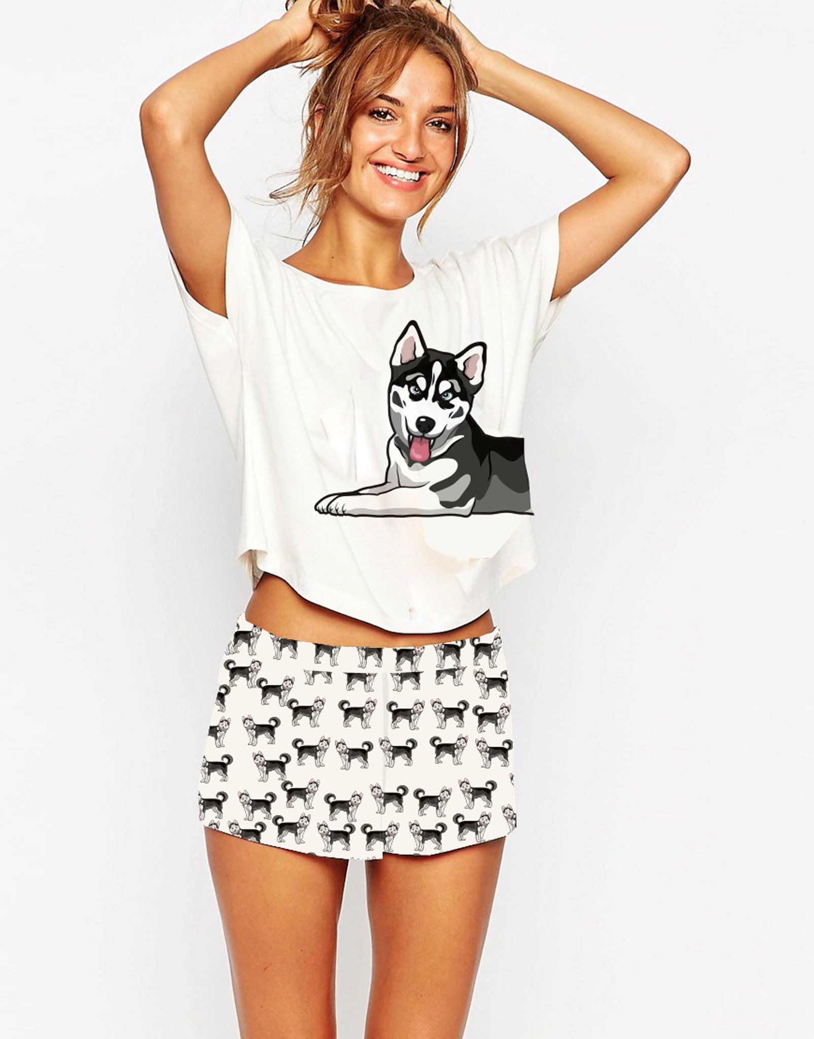 Husky Two Piece Pajama Set  545813931