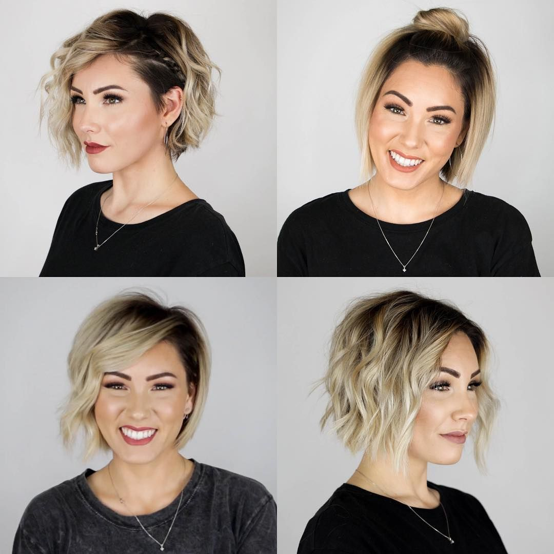 I Just Uploaded A New Video On My Youtube Channel If You Want To See A Step By Step Of These 4 Hairstyles Go Short Hair Styles Thick Hair Styles Hair Styles