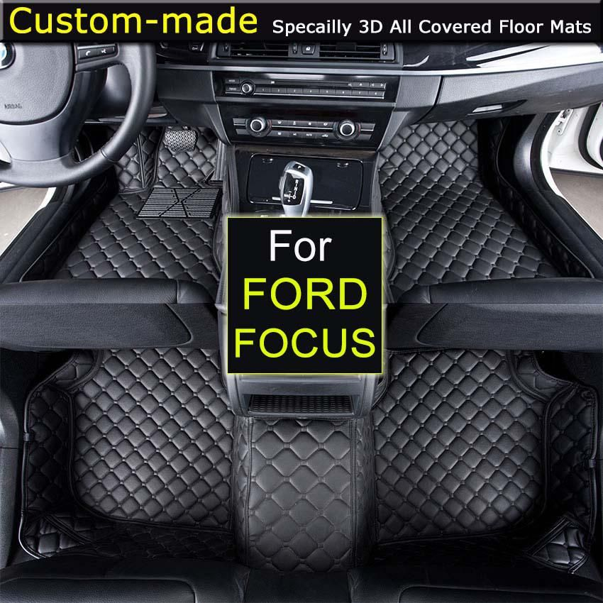 For Ford Focus Sedan Focus Hatchback Car Floor Mats Customized