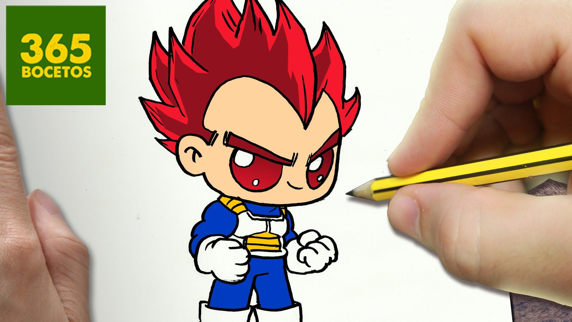 50 Imágenes De Goku Para Dibujar: COMO DIBUJAR VEGETA DIOS KAWAII PASO A PASO