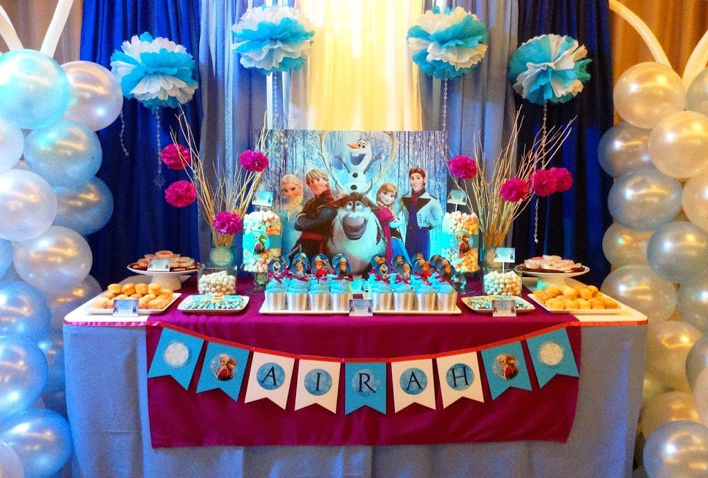 Disney Frozen Themed Party Airahs 7th Birthday